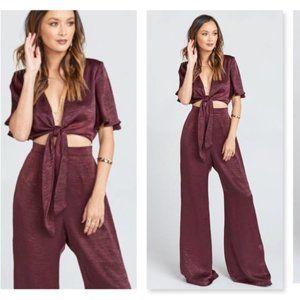 Show Me Your MuMu Tie Waist Jenna Jumpsuit Size XL